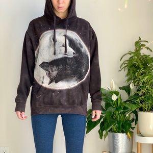 The mountain yin yang wolf sweatshirt hoodie